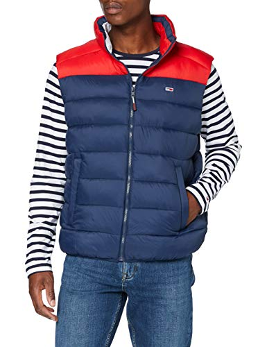Tommy Jeans TJM Colorblock Vest Chaqueta, Azul (Twilight Navy/Deep Crimson), X-Small para Hombre