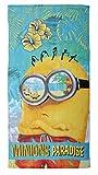 Toalla de Playa de algodón de 140 x 70 cm, diseño de Minion