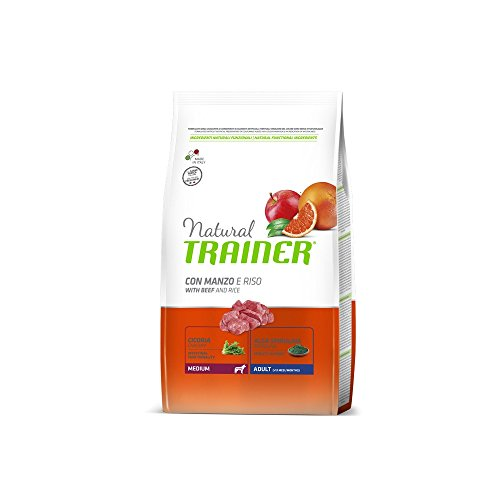 Natural Trainer Trainer Natural Medium Manzo Riso kg. 3 Cibo Secco per Cani, Multicolore, Unica, 3000 unità