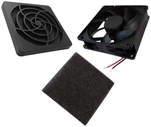 AERZETIX - Ventilador para Caja de Ordenador PC - Rejilla - Filtro - 92x92x25mm - 4500RPM - C14566A