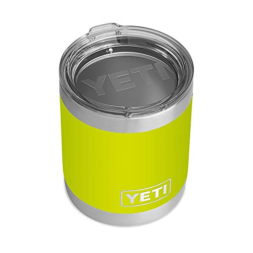 YETI Rambler 10 oz Lowball, Vacuum Insulated, Stainless Steel with Standard Lid, Chartreuse