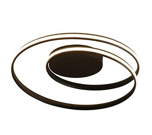 Deckenlampe Led Spirale Rund Ring Deckenleuchte Dimmbar Mit Fernbedienung Modern Wohnzimmer Schlafzimmer Minimalismus Lampe Für Küche Decke Leuchten Küchenleuchte Schlafzimmerlampe (Schwarz, 60CM)