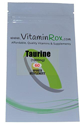Taurine [1000mg] - 60 Compresse   Sport Supplemento [Taurina]
