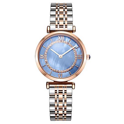 Hxl Fashion dames horloge waterdicht analoge quartz horloge uniek design horloge, wijzerplaat met strass steentje/vlinder dubbele druk gesp