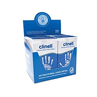 Clinell Antimicrobial Hand Wipes Suitable for Hands and Surfaces - Pack of 100 Sachets - Dermatologically Tested, Kills 99.99% of Germs (B006H4R4D4) | Amazon price tracker / tracking, Amazon price history charts, Amazon price watches, Amazon price drop alerts