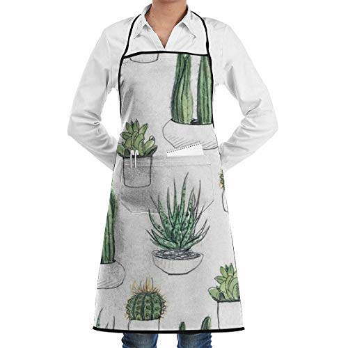 DayToy Schürze Kochschürze Küchenschürze Grillschürze TopfpflanzeSchürze zum Backen Garten Restaurant Grill mit 2 Taschen 20,5 x 28,4 Zoll