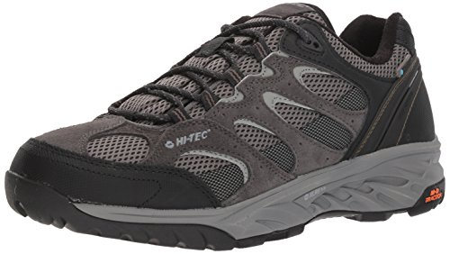 HI-TEC Men's V-LITE Wild-FIRE Low I Waterproof Hiking Shoe, Charcoal/Grey/Olive Night, 9