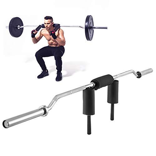 Botabay Olympic Safety Squat Bar Fitness Squat Olympic Bar 700lbs Safety Squat Bar Attachment for Weight Lifting Home(Bar)