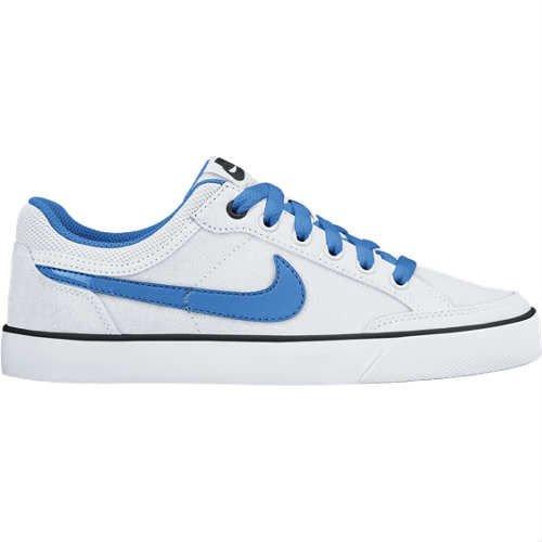 Nike Herren Capri 3 LTR GS Schuhe – Weiß/Blau, Größe 38, 5