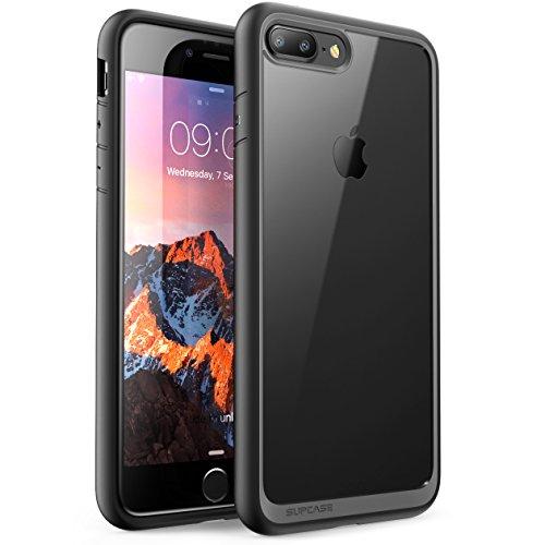 SUPCASE Coque pour iPhone 8 Plus/ iPhone 7 Plus Transparente Anti-Choc [Unicorn Beetle Style] Protection Hybride (Noir)