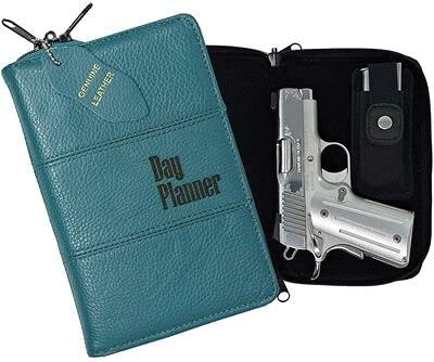 Garrison Grip Quality Leather CCW Day Planner Gun Case for...