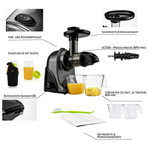 Nutrilovers Slow Juicer GREEN-PRESS - 2