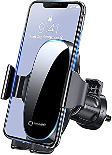 【2021 Upgraded】Raviant Car Phone Mount, Air Vent Mobile Phone Holder for Car, Universal Car Phone Holder Cradle Compatible...