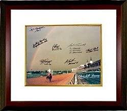 Athlon CTBLTMw12448 Spend The Buck Signed Churchill Downs Kentucky Derby Winners - 1985 Horse Racing Rainbow Photo 7 Signatures Custom Framed - 16 x 20