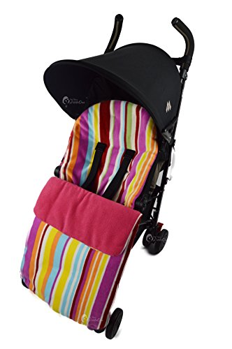 Forro polar saco para Maclaren Techno XT XLR Quest Volo Candy rosa