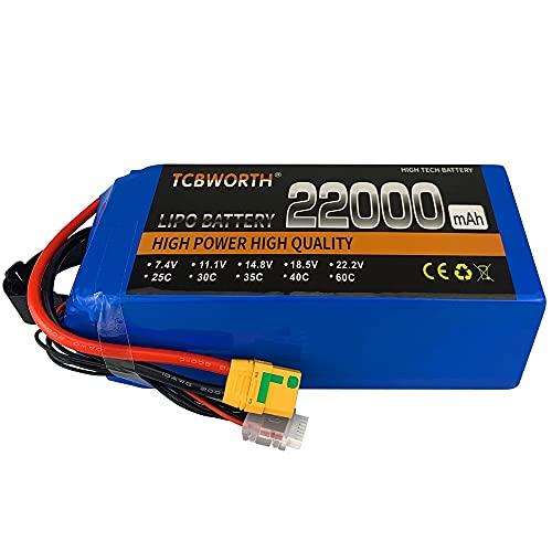 OUYBO RC.Batteria Lipo 6S 22.2V 16000mAh 22000mAh 25C per RC.Auto Airplane Tank Drone Toy Models 6s RC.Batterie aeromobili agricoli Accessori per batterie di parti RC