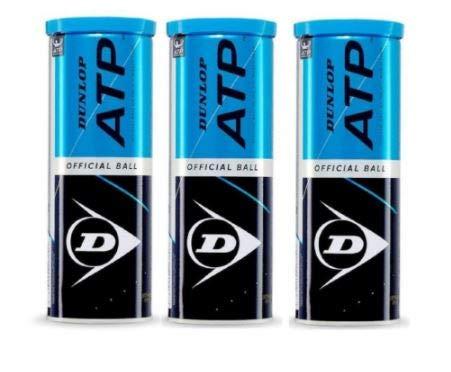 Dunlop ATP Offizielle Tennisbälle 9 Tennisbälle 3x3