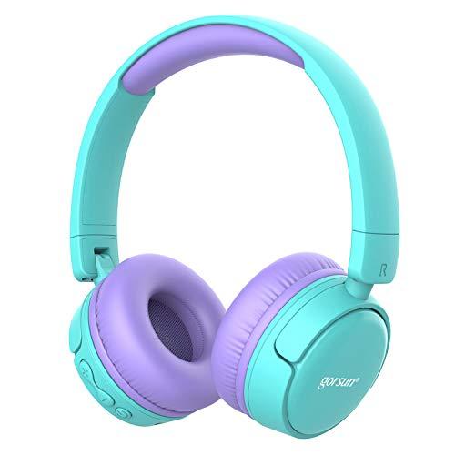 gorsun Wireless Kids Headphones with MIC 85dB Volume Regulator, Children