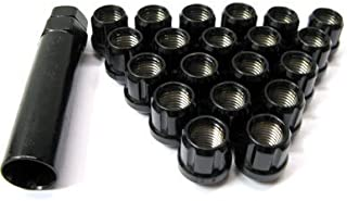 Muteki (Open End Black 12x 1.5) Super Tuner Nuts Light Weight Wheel Lug Nut
