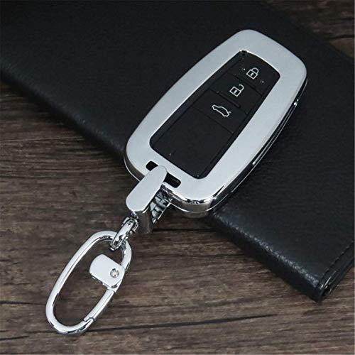 Cubierta de la llave del bolso de la llave del coche de la aleación de aluminio, para Toyota Camry Corolla C-HR CHR Prado 2018 protección de la llave (A)