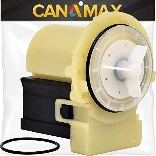 [DIY] 8181684 Washer Drain Pump Premium Replacement Part by Canamax - Compatible with Whirlpool Kenmore Washers - Replaces 280187 285998 8182819 8182821 AP3953640