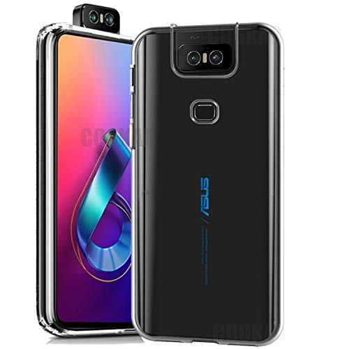 cookaR Crystal Clear ASUS Zenfone 6 2019 ZS630KL Hülle, Transparent Silikon TPU Hülle Superdünn Soft Cover Handyhülle Schutzhülle für ASUS ZS630KL Smartphone, Transparent