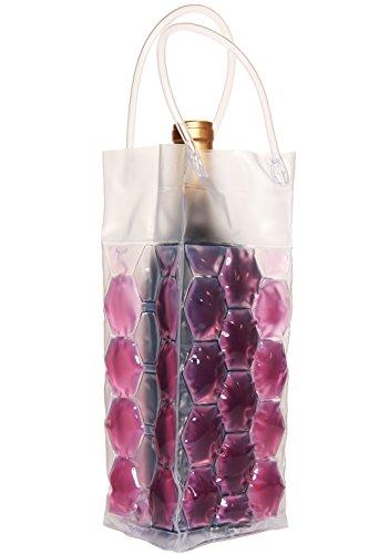 Zees Inc Pocket Bottles Cs2003 Freezable Wine Tote, Purple