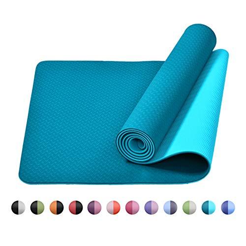 bobo banana Yoga Mat, TPE Non-Slip Fitness Mat Dual Color Exercise Mat for Yoga Gymnastics, Pilates & Floor Exercises (Jade Green)