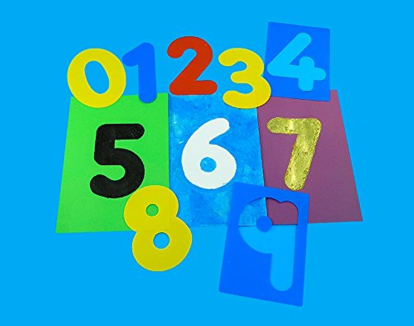10 Washable Large Number Stencils for Kids   Kids Craft Stencils