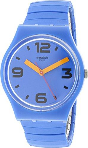 Swatch GN251A Pepeblu - Reloj Unisex (Silicona, 34 mm), Color Azul