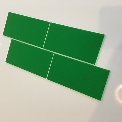 Super Cool Creations Rechteckig Fliesen Von - Leuchtend Grün, Pack of Ten - 20cm x 15cm