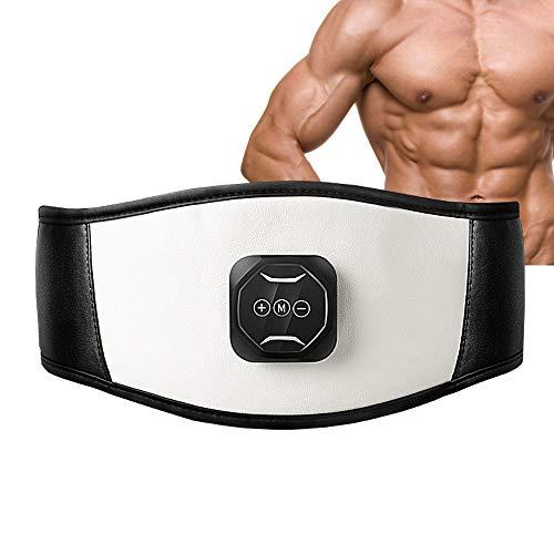 IXAER Electric Slimming Belt EMS Ab Stimulator Electronic Abdominal Belt Muscle Toning Waist Trainer 6 Massage Modes 10 Levels Adjustable Intensity Vibration Loss Weight Fat Removal Burner Belt