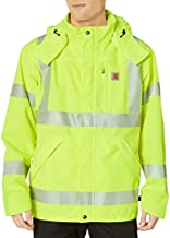 Carhartt Men's High Visibility Class 3 Waterproof Jacket,Brite Lime,XX-Large