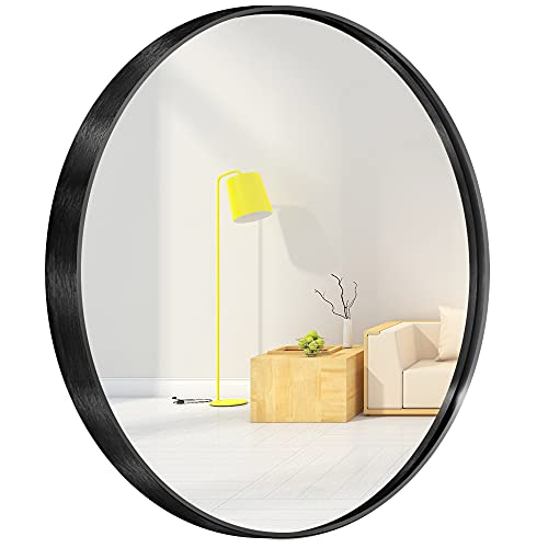 Espejo circular de pared redondo para entradas, baños, salas de
