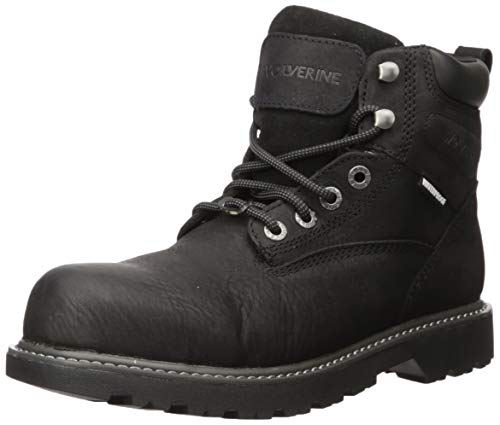 "Wolverine Men's 6"" Floorhand Puncture Resistant Boot, Black, 12.0 Extra Wide US"
