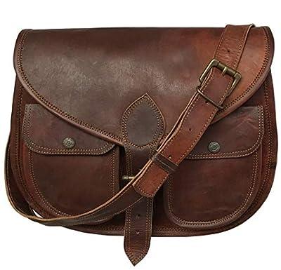 13 Inch Leather Purse Women Shoulder Bag Crossbody Satchel Ladies Tote Travel Purse Genuine Leather Ipad Bag (dark)