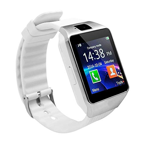 Oyznsb Smartwatch, bluetooth, smartwatch, voor heren, dames, TicWatch, Sport, Fitness Tracker, voor iOS, iPhone, Samsung, Huawei, Xiaomi, Android, Wit