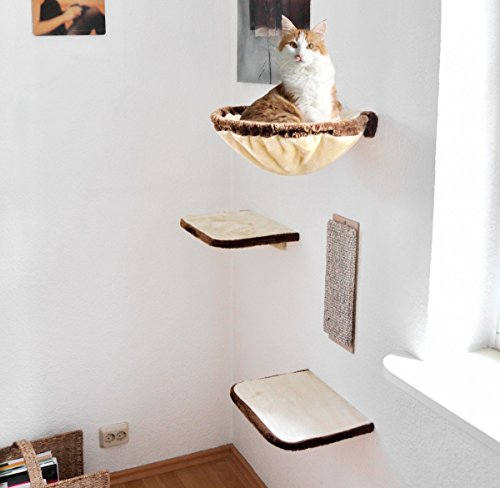 SILVIO DESIGN Katzen-Kletterwand 4-teilig - 2