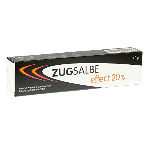 Zugsalbe effect 20% Spar-Set 3x40g. Für oberflächliche, eitrige Hautentzündungen wie Pickel, Rasierpickel, Nagelbett-, Schweißdrüsen- und Haarbalgentzündungen