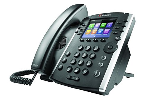 """Poly - VVX 411 12-Line VOIP Business Phone (Polycom) - Desk Phone with Handset - POE - Power Supply Not Included - 3.5"""" Color Display"""