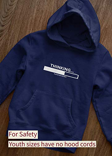 Thinking Please Be Patient - Funny Slogan - Unisex Adults and Kids Hoodie S Maroon