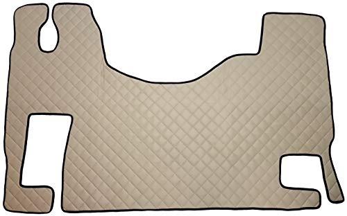 Unbekannt Juego de alfombrillas para ACTROS MP2 MP3, accesorios interiores automáticos para camiones, decoración, alfombra beige de piel sintética