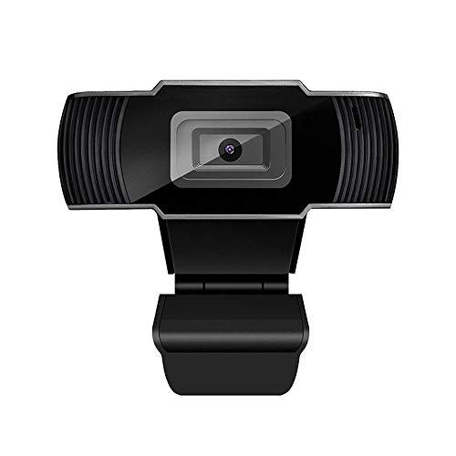 Fesjoy Cámara web HD 1080p, gran angular, 30 fps, enfoque automático, cancelación de ruido, MIC, ordenador portátil, USB, Plug & Play