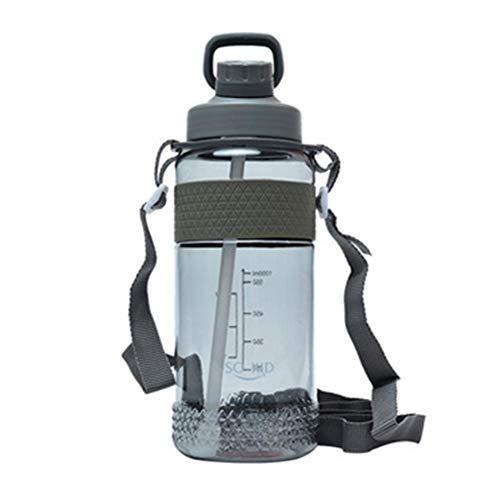 Botella de Agua Deportiva de 1000 ml, plástico no tóxico sin BPA con Botella de Paja, diseño a Prueba de Fugas para Adolescentes, Adultos, Deportes, Gimnasio, Fitness, al Aire Libre, ciclism