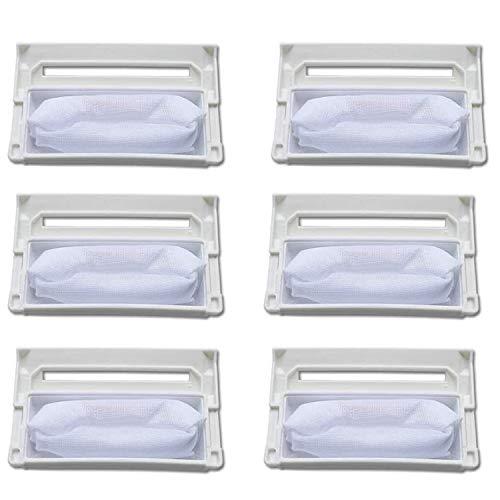Zealing 6 bolsas de filtro de lavadora/bolsa de polvo, apto para lavadora Ig 5231FA2239N-2S.W.96.6