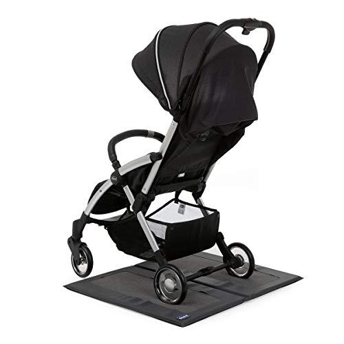 Chicco Alfombra de limpieza para cochecitos y sillas de paseo (adecuado para mantener el suelo de casa siempre limpio, universal), negro, unisex