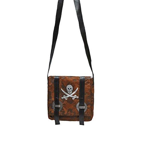 Generique - Piraten-Tasche Umhängetasche braun-schwarz