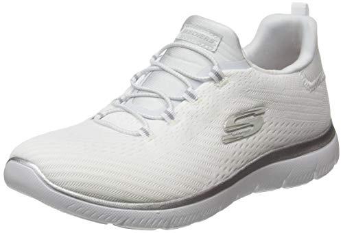 Skechers Summits, Zapatillas Mujer, Blanco White Mesh/Silver