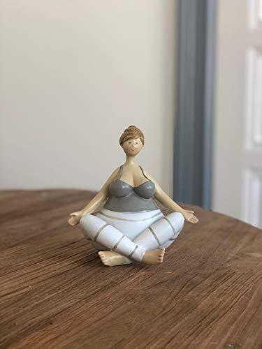 Wohnideen Kupke Deko Figur 20cm Yoga Figur im Schneidersitz