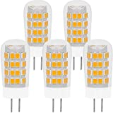 GY6.35 G6.35 LED Bulb 4W Equivalent to 35-40W GY6.35 Halogen Lamp T4 JC Type AC/DC12V Bi-pin Base Warm White 2700K, Non-dimmable (5 Pack)